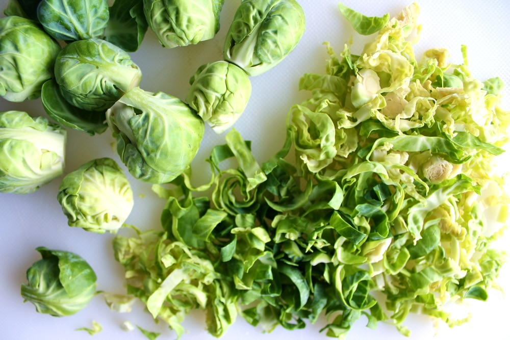Shredded brussels sprouts w maple miso dressing karma chow for Shredded brussel sprout salad recipe