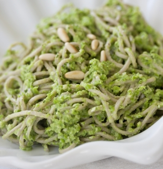 Soba Noodles with Mint Pea Pesto
