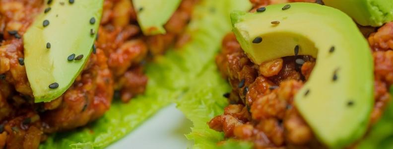 "Sweet & Savory Tempeh ""Tacos"" – Korean Style"