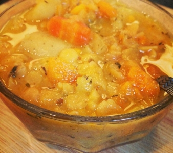 Golden Split Pea Soup