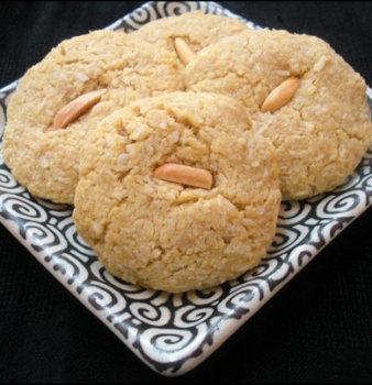 Anise Scented Coconut Almond Cookies