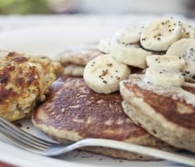 Banana Chia Pancakes; Gluten Free & Vegan
