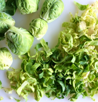 Shredded Brussels Sprouts w/Maple Miso Dressing