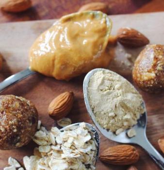Peanut Butter Maca Oat Balls