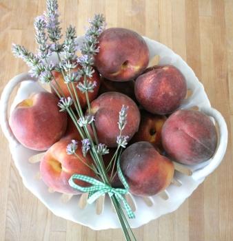 Raw Peach Lavender Compote
