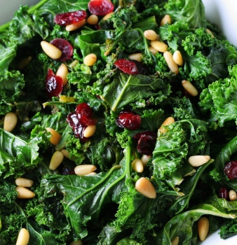 Raw Kale Salad with Miso Dressing