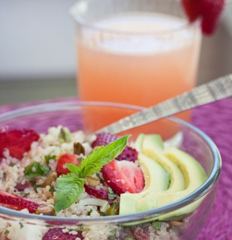 Quinoa & Strawberry Salad w/ Citrus Dressing