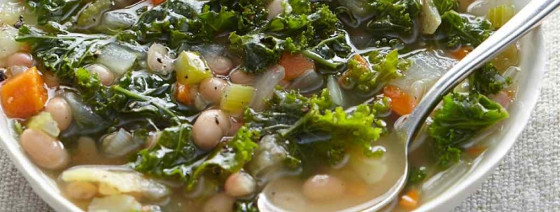 White Bean & Sweet Yam Soup with Kale
