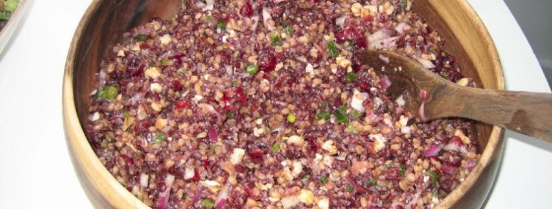 Wild Rice & Wheat Berry Salad w/ Red Grapes & Ruby Grapefruit Dressing